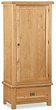 Oakvale Narrow Single Wardrobe/Slim Robe 1 Door