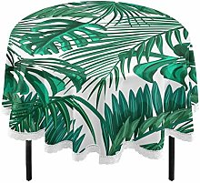 Oarencol Tropical Palm Leaves Summer Round