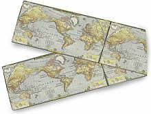 Oarencol Vintage Old World Map Table Runner 13x90