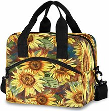Oarencol Vintage Sunflower Insulated Lunch Tote