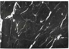 Oarencol Vintage White and Black Marble Art Print