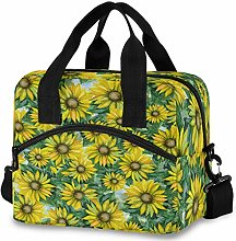 Oarencol Vintage Yellow Sunflower Insulated Lunch