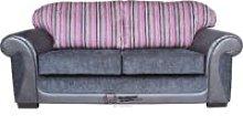 Oasis 3 Seater Sofa Settee Fabric Sofa Charcoal