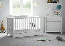Obaby Belton 2 Piece Nursery Furniture Set - White