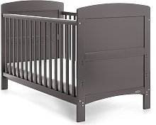 Obaby Grace Cot Bed with Mattress - Taupe Grey