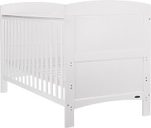 Obaby Grace Cot Bed with Mattress - White