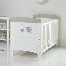 Obaby Hedgehog Cot Bed with Mattress - Grey