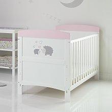 Obaby Hedgehog Cot Bed with Mattress - Pink