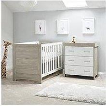 Obaby Nika 2 Piece Room Set - Grey Wash/White