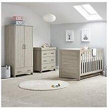 Obaby Nika 3-piece Nursery Room Set, Grey Wash