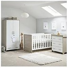 Obaby Nika 3 Piece Room Set - Grey Wash/White