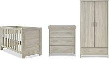 Obaby Nika 3 Piece Room Set - Grey Wash