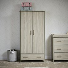 Obaby Nika Double Wardrobe - Grey Wash