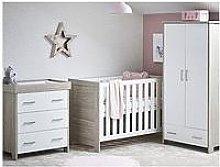 Obaby Nika Mini 3-Piece Room Set - Grey Wash/White
