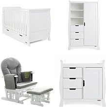 Obaby Stamford Classic 4 Piece Nursery Furniture