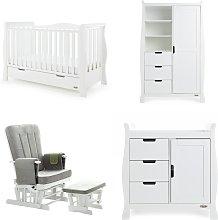Obaby Stamford Luxe 4 Piece Nursery Furniture Set