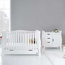 Obaby Stamford Luxe Cot Bed 2 Piece Nursery