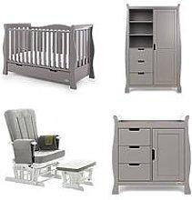 Obaby Stamford Luxe Sleigh 3-Piece Nursery