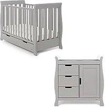 Obaby Stamford Mini Sleigh 3-Piece Nursery