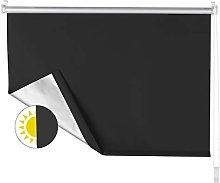 OBdeco Blackout Roller Blind 45 x 160 cm Black No