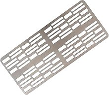 Obelunrp Grill Grate Portable Reusable Stainless