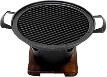 Obelunrp Stove Mini Wooden Frame Grill Alcohol