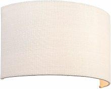 Obi wall lamp vintage white linen fabric