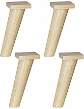 Oblique Tapered Standing Feet, 4pcs Solid Wooden