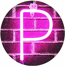 Obrecis Light Up Letters Neon Signs, Pink Marquee