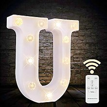 Obrecis White Light Up Marquee LED Letter Sign