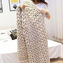 OcaseQ Chunky Knit Throw Blanket Handmade Bulky