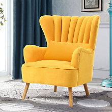 Occasion Suede Wingback Armchair With Cushion,