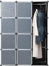 OCDAY Modern DIY Plastic Storage Wardrobe Shelf,