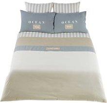 OCÉAN cotton bedding set in white 240 x 260cm
