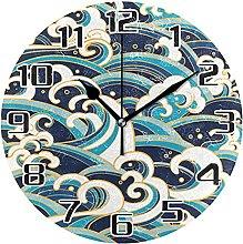 Ocean Marine Wall Clock Silent Non Ticking,