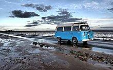 Ocean Road Camper Van,DIY 5D Diamond Painting