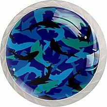 Ocean Sharks Sea Cabinet Knobs Knobs for Dresser
