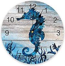 Ocean Theme PVC Wall Clock, Silent Non-Ticking