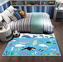 Ocean Underwater Whale Animal Coral Anchor Carpet,