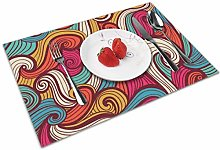 Ocean Waves Insulation Heat Resistant Table Mats