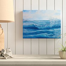 Ocean Waves Painting Print on Wrapped Canvas House