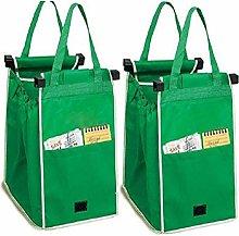 OCGDZ 2Pcs Storage Bags Reusable Large Trolley