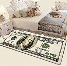 Ochine 100 Dollar Bill Area Rug,One Hundred Dollar