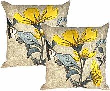 Ochre Mustard Yellow Applique Floral Silk Flower