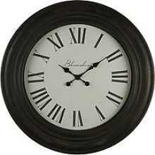 Ocrasey Round Antique Style Wall Clock In Black