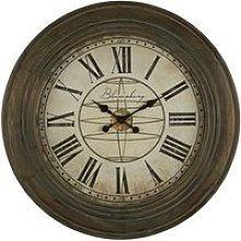 Ocrasey Round Antique Style Wall Clock In Washed