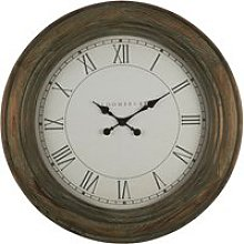 Ocrasey Round Vintage Look Wall Clock In Washed