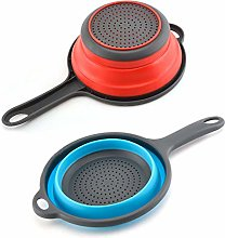 odaytop 2pcs Silicone Collapsible Colander,