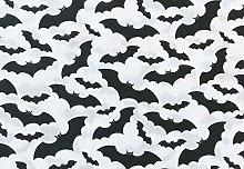 Oddies Textile Halloween Polycotton Fabric - Black