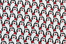 Oddies Textile Polycotton Fabric - Red, Black &